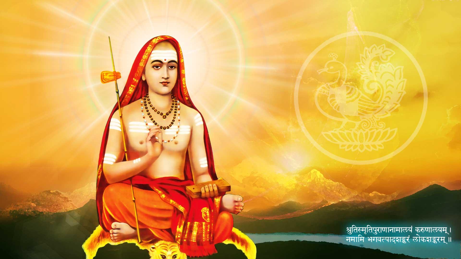 Happy Adi Shankaracharya Jayanti Wallpapers for Free Download
