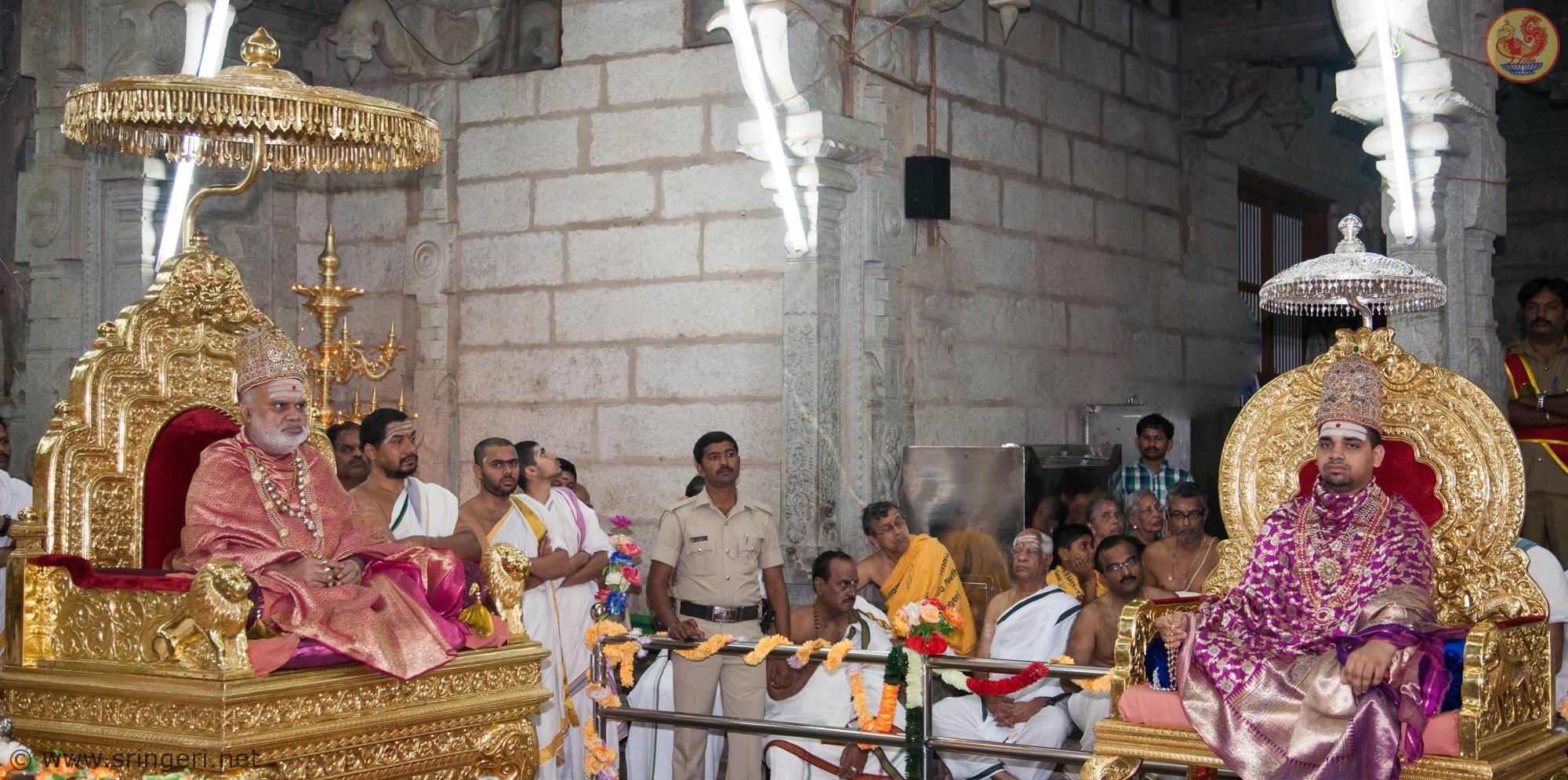 Sri Sri Mahasannidhanam and Sri Sri Sannidhanam in Navaratri Durbar